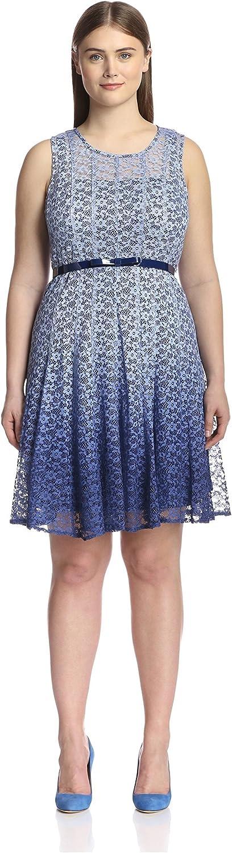 Chetta B Plus Women's Ombre Magic Waist Dress