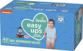 Pampers Easy Ups Pull On Disposable Potty Training Underwear for Boys, Size 6 (4T-5T), 100 Count, Enormous Pack
