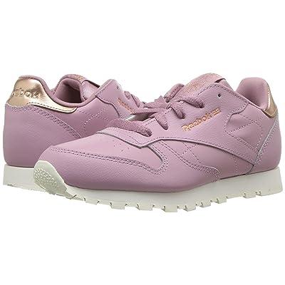 Reebok Kids Classic Leather (Little Kid) (Lilac/Chalk) Girls Shoes