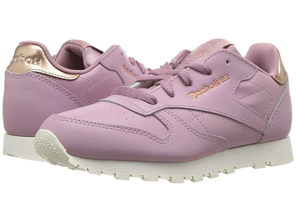 Reebok Kids Classic Leather (Little Kid) (Lilac/Chalk) Girls Shoes