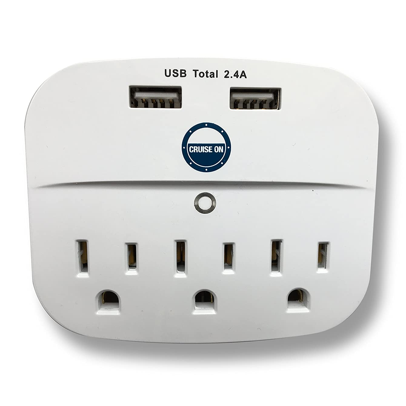 Cruise Power Strip with USB Outlets - Non Surge Protection & Ship Approved | Travel Accessories and Must Haves by Cruise On ynbzghewupyja06