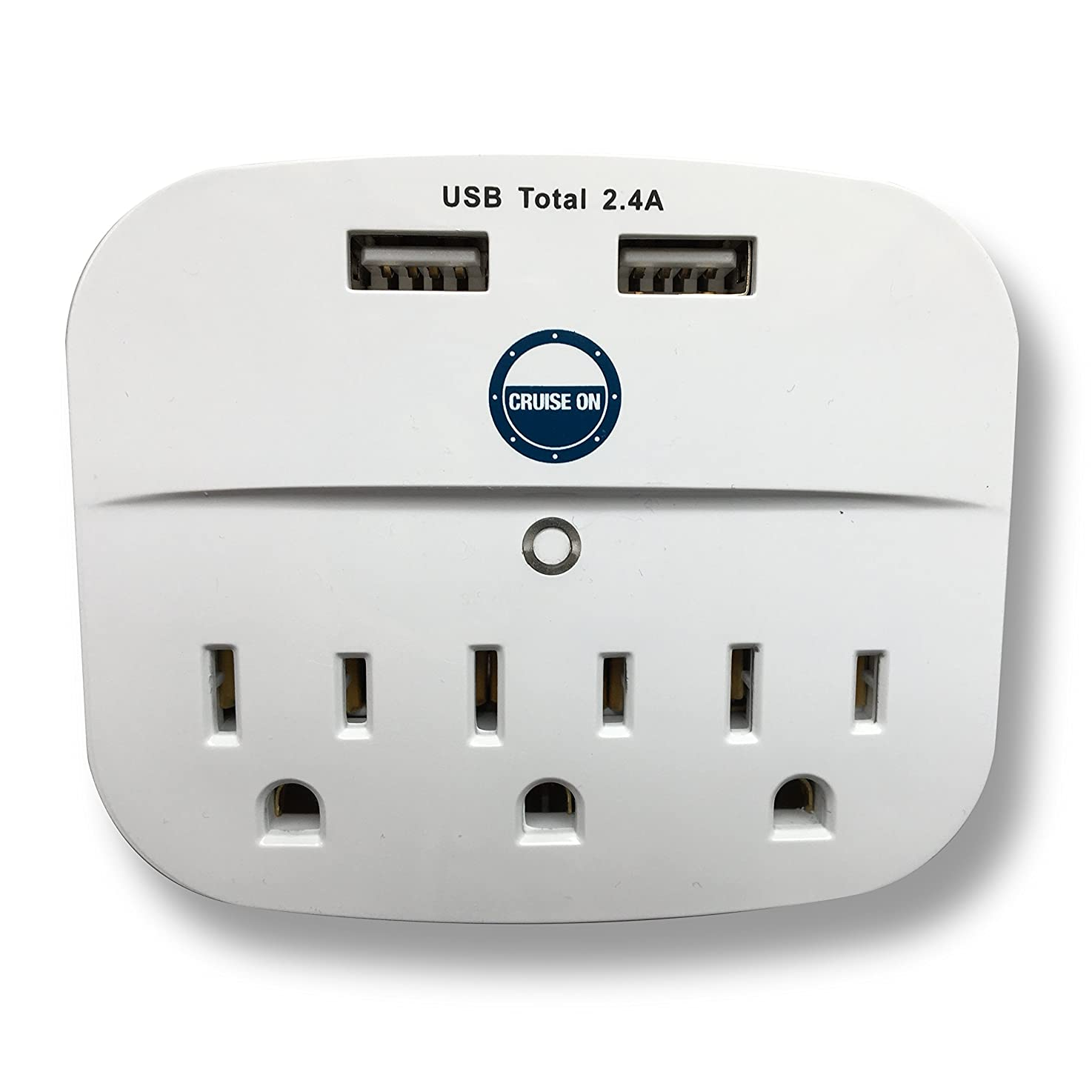 Cruise Power Strip with USB Outlets - Non Surge Protection & Ship Approved   Travel Accessories and Must Haves by Cruise On jcbmifbxuadkb4