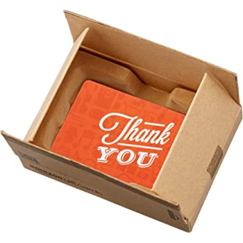 Amazon.com Gift Card in a Mini Amazon Shipping Box (Thank You Icons Design)