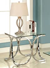 Furniture of America End Table, Chrome