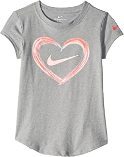 Digital Analog Heart Script Short Sleeve Tee (Toddler/Little Kids)