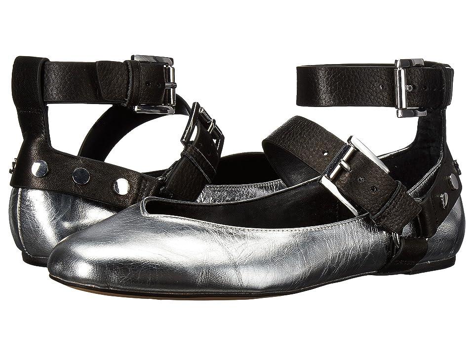 Rebecca Minkoff Vivica (Silver\Black Distressed Metallic Leather\Lamba) Women