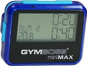 Gymboss miniMAX Interval Timer and Stopwatch - BLUE/BLUE METALLIC GLOSS