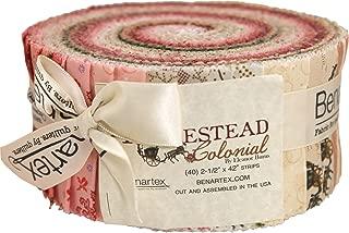 Eleanor Burns Homestead Colonial Pinwheel 40 2.5-inch Strips Jelly Roll Benartex, Assorted