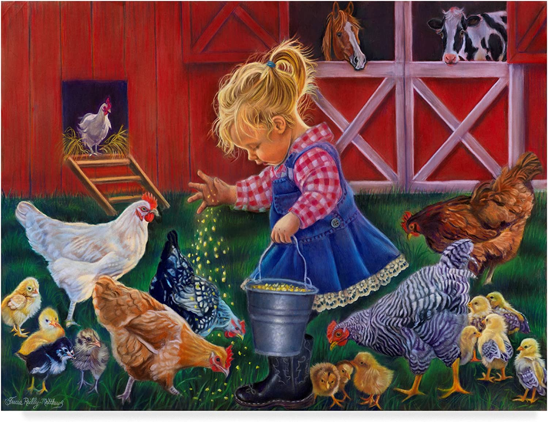 Little Farm Girl by Tricia ReillyMatthews, 14x19Inch