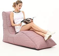 Ambient Lounge Avatar Sofa Designer Bean Bag with Filling in Raspberry Polo UV Grade AA+ Outdoor Fabric