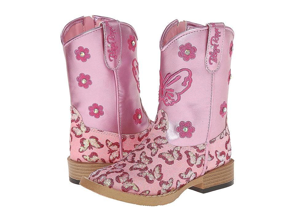 M&F Western Kids Pecos Zip (Toddler) (Pink) Cowboy Boots