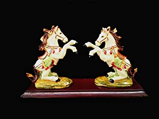 Feng Shui Zodiac Victory Horse Statue for Wealth and Success and a Betterdecor Gift Bag)
