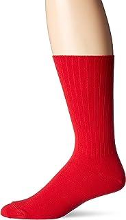 CHAPS mens Solid Casual True Rib Crew Socks (1 Pack)
