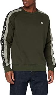 G-STAR RAW Men's Sport Heather Stripe Sweater