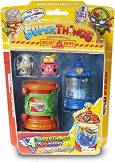 SuperThings Rivals Kaboom - Secret Spies - Blister (PST6B416IN00) with 4 Figures, 1 Hideout and 1 Detector