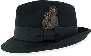 Belfry Trilby Men/Women Snap Brim Vintage Style Dress Fedora Hat 100% Pure Wool Felt in Black, Grey, Navy, Brown and Pecan