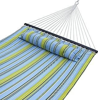 ZENY Hammock Quilted Fabric Double Size Spreader Bar Heavy Duty Brand New Stylish 450lbs Capacity