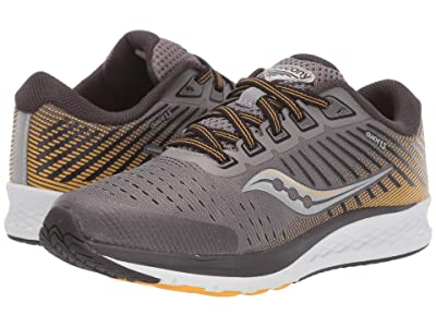 Saucony Kids S-Guide 13 (Little Kid/Big Kid) (Grey/Yellow) Boys Shoes