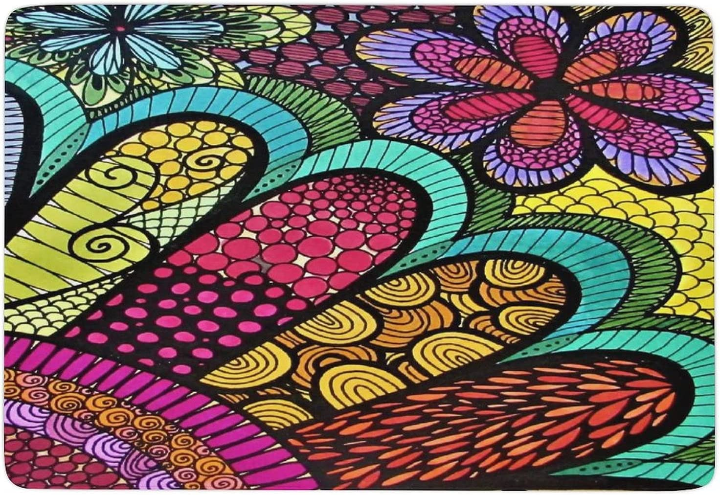 Colorful Flowers Carpets-Indoor Non-Slip Free shipping New Large-scale sale Durable Rugs Runner Cor