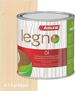 ADLER Legno Öl - Universelles Holzöl farblos für Laub- und Nadelhölzer im Innenbereich - Holzschutz & Pflege mit Holzpflegeöl für Möbel, Innenausbau & Holzböden - Weiß 750ml