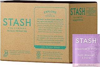 Stash Tea Breakfast in Paris Black Tea, 100 Count Box of Tea Bags in Foil Individual Black Tea Bags for Use in Teapots Mug...