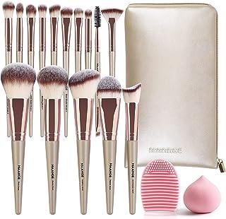 Make-up Borstels 15 stuks Champagne Goud Make-up Borstel Set Professionele Premium Synthetische Make-up Borstel voor Found...