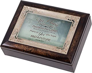 Misty Meadow Tree Jeremiah 29:11 Italian Design Jewelry Music Box Plays Amazing Grace