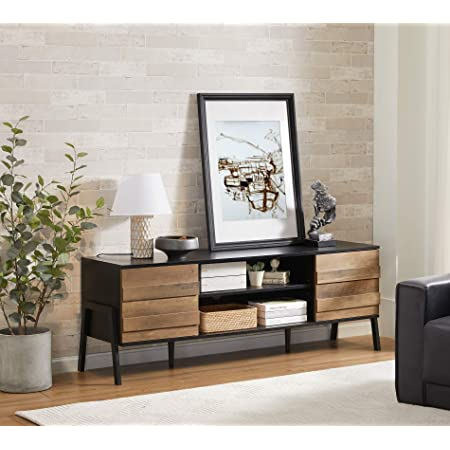 SOLD OUT Navy Nine Drawer Wood Dresser Media Cabinet with a power box. Media Console