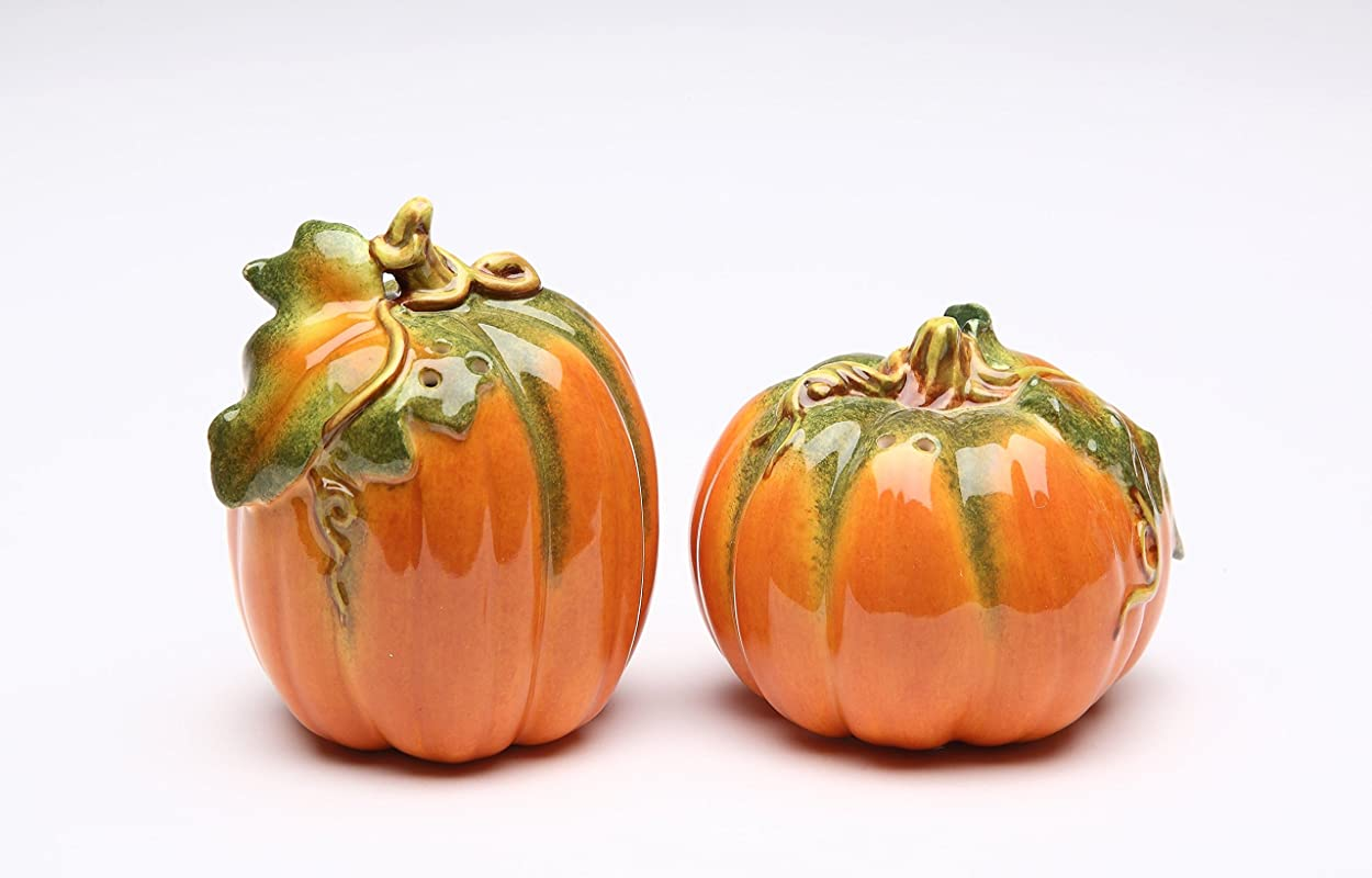Cosmos Gifts 10364 Pumpkin Salt And Pepper Shakers