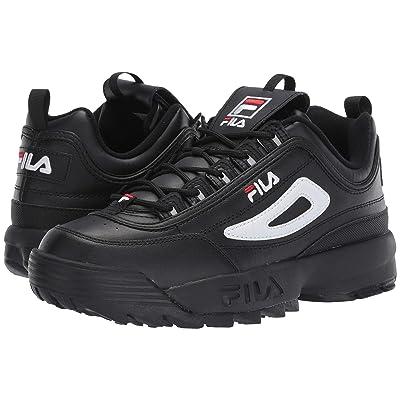 Fila Disruptor II Premium (Black/White/Fila Red) Men