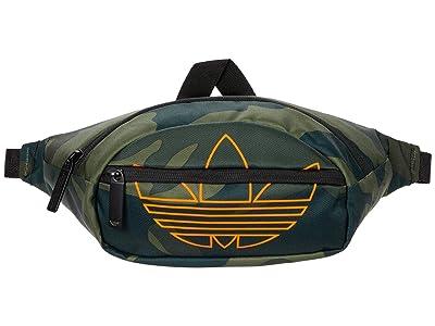 adidas Originals Originals National Waist Pack (Adi Camo/Signal Orange) Handbags