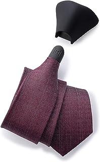 Modern Tie, Men's Magnetic Skinny Woven Silk Necktie, Solid