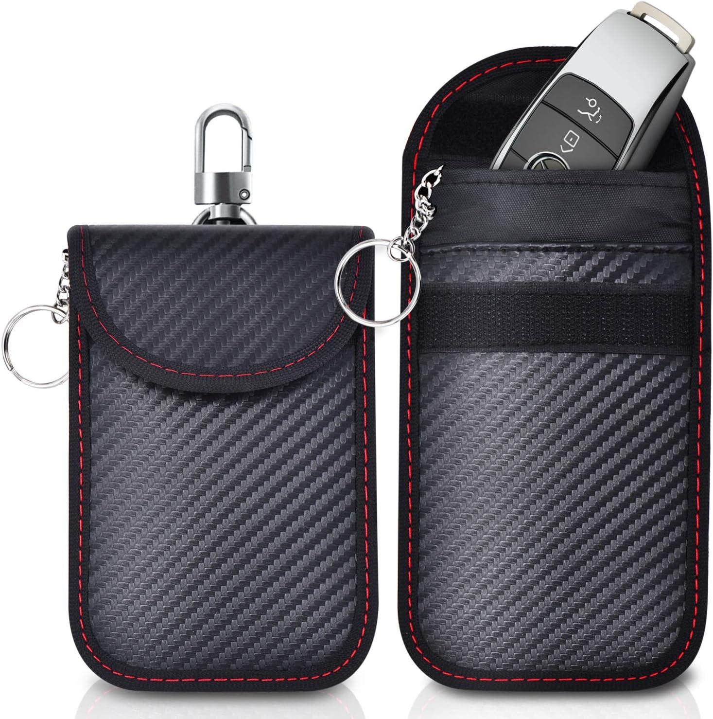 Ferlord 2 Pack Small Faraday Pouch RFID Signal Blocking Faraday Bag for Car Key