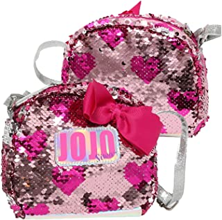 JoJo Siwa Girls Crossbody Bag with Brushed Sequins