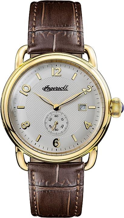 Ingersoll orologio analogico classico quarzo uomo con cinturino in pelle i00803