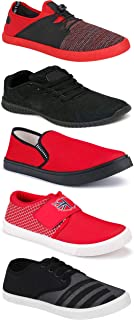 WORLD WEAR FOOTWEAR Sports Running Shoes/Casual/Sneakers/Loafers Shoes for MenMulticolors (Combo-(5)-1219-1221-1140-725-785)
