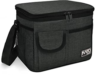 Insulated Lunch Box for Women Men, Leakproof Thermal Reusable Lunch Bag with 4 Pockets for Adult & Kids, Lunch Bag Cooler Tote for Office Work by Tirrinia, Black