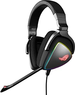 ASUS ROG DELTA USB-C Gaming Headset for PC, Mac, PlayStation 4, Teamspeak, and Discord with Hi-Res ESS Quad-DAC, Digital M...