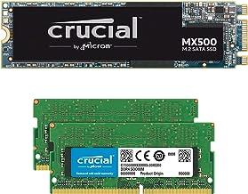 Crucial MX500 1TB M.2 SATA 6Gb SSD CT1000MX500SSD4 Bundle with 32GB (2 x 16GB) DDR4 PC4-21300 2666MHz Memory Kit CT2K16G48...