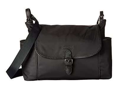 Burberry Kids Flap Diaper Bag (Black 1) Diaper Bags
