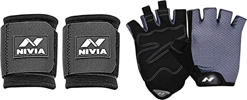 Nivia Wrist Support, Pack of 2 (Black) product image