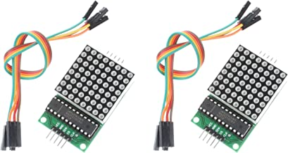 NOYITO MAX7219 Dot Matrix Module Microcontroller Module Compatible with Arduino (Pack of 2)