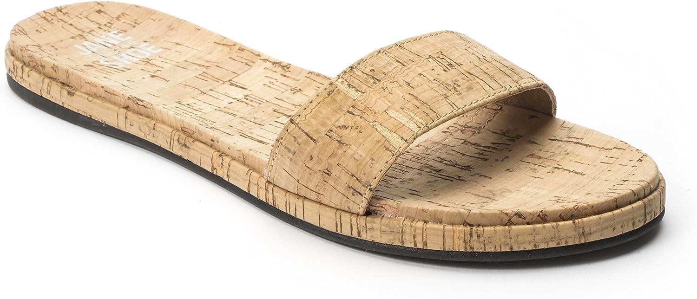 Jane and the Shoe Jill Slide Cork Open Toe Flat Sandals Mule