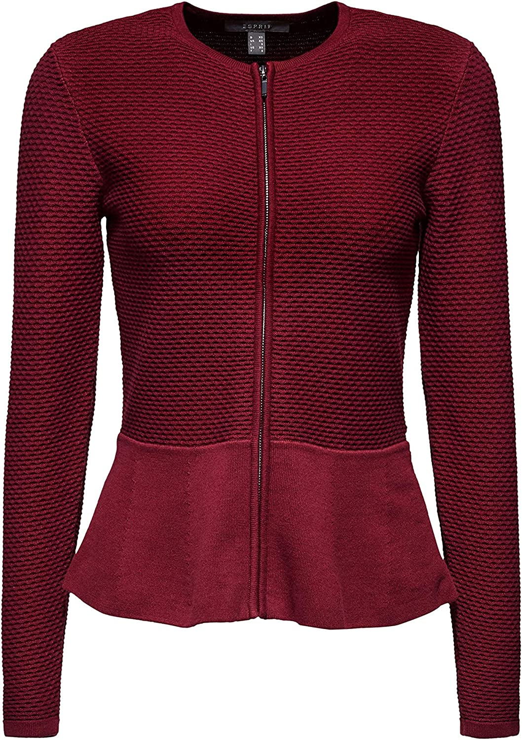 ESPRIT Collection Damen Strickjacke Rot (Garnet Red 620)