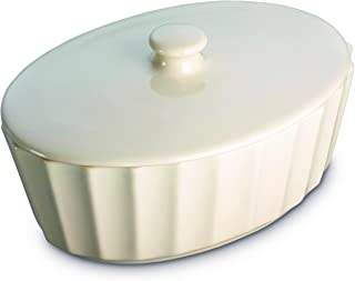 Prestige Create Almond Ceramics Oval Covered Casserole, 25cm