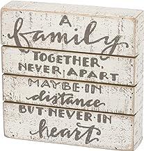 لافتة صندوق خشبية من Primitives by Kathy بتصميم حروف يدوية، مقاس 17.78 سم × 17.78 سم، A Family Together Never Apart