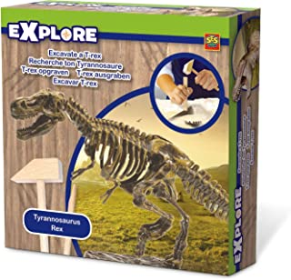 SES Creative 25028 Explore Excavate A T-Rex Toy, Mixed, 18