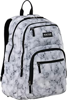 """Kenneth Cole REACTION Printed Dual Compartment 16"""" Laptop & Tablet Backpack for School, Travel, & Work"""