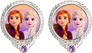 Disney Frozen 2 Sisters Elsa and Anna Fine Silver Plated Crystal Stud Earrings