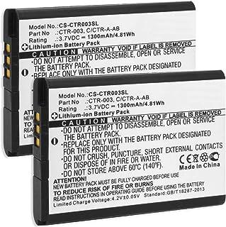 2x Batteria per Nintendo 3DS - Nintendo 2DS, new 2DS XL, N2DS XL - Controller di Nintendo Wii U Pro (sostituisce batteria ...